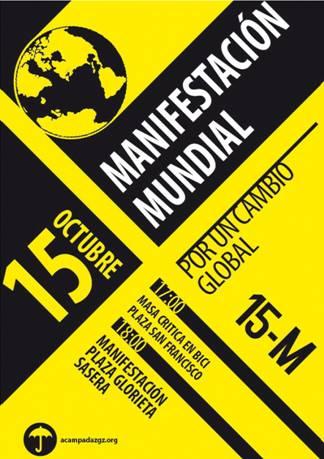 Manifestación sábado 15 octubre a las 18h
